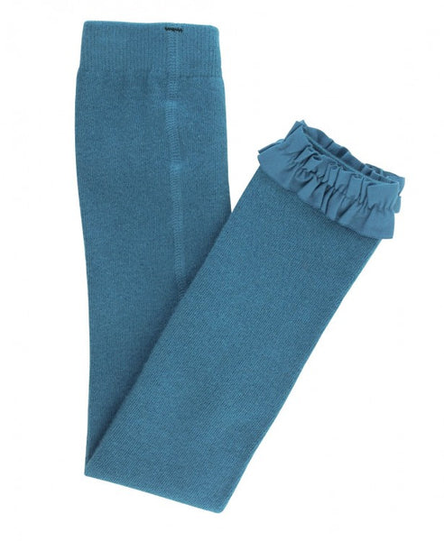 Footless Ruffle Tights - Ethereal Blue