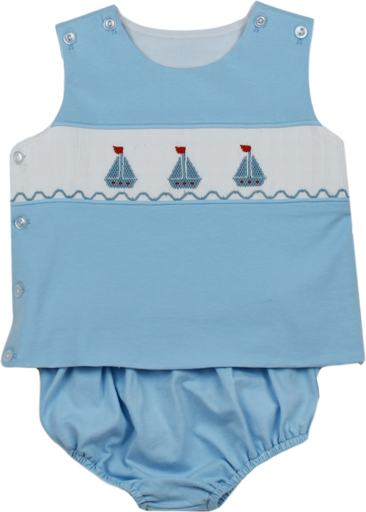 Bryant Diaper Set - Sailboat - Anchors Aweigh