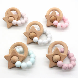 Silicone wood teethers
