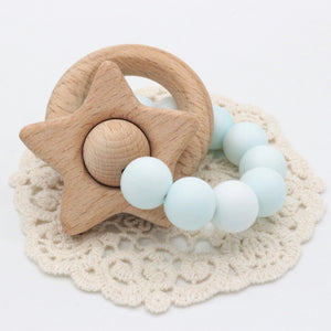 blue teether for babies