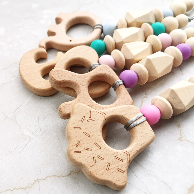 wooden teether toys