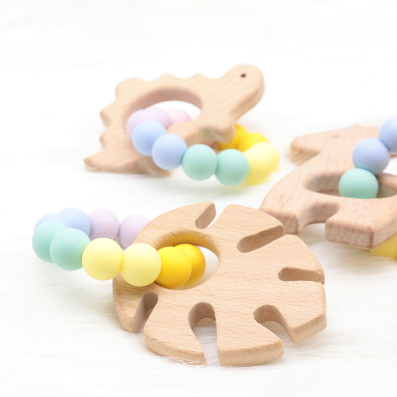 Wooden Toys with Silicone Bracelets