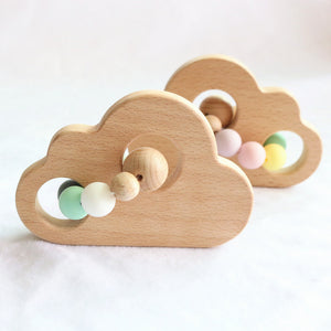 wood cloud teether