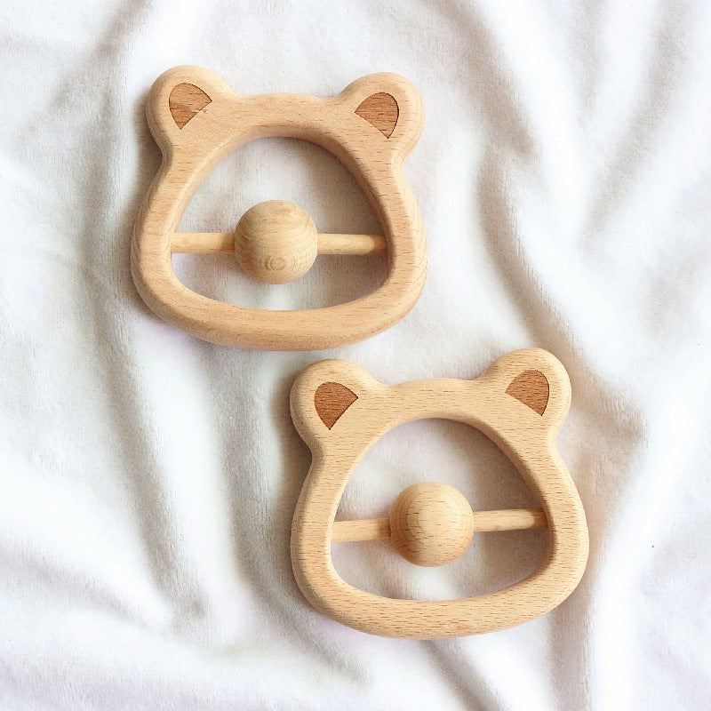 cute wood rattles teethers