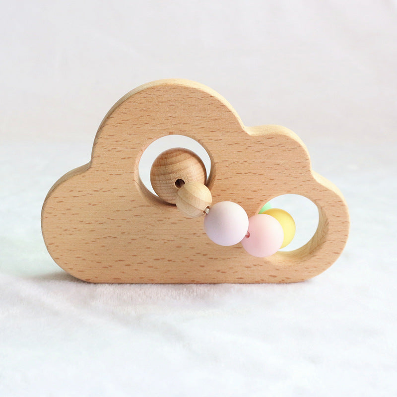 pink wood teether