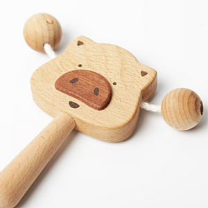 wooden teether rattle