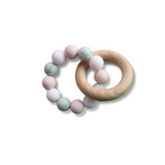 pink silicone organic teether