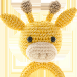Yellow Giraffe Crochet Toy