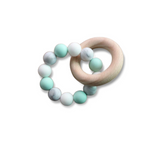 mint teether wood silicone