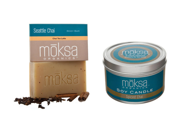 Spiced Chai Bar Soap & Candle Set