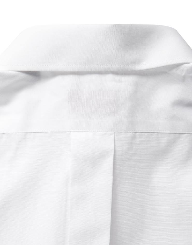 Men's Classic White Button Front, Collar Dress Shirt