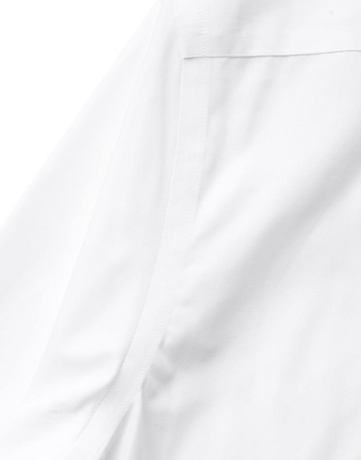 Men's White Button Front, Mandarin Collar Shirt