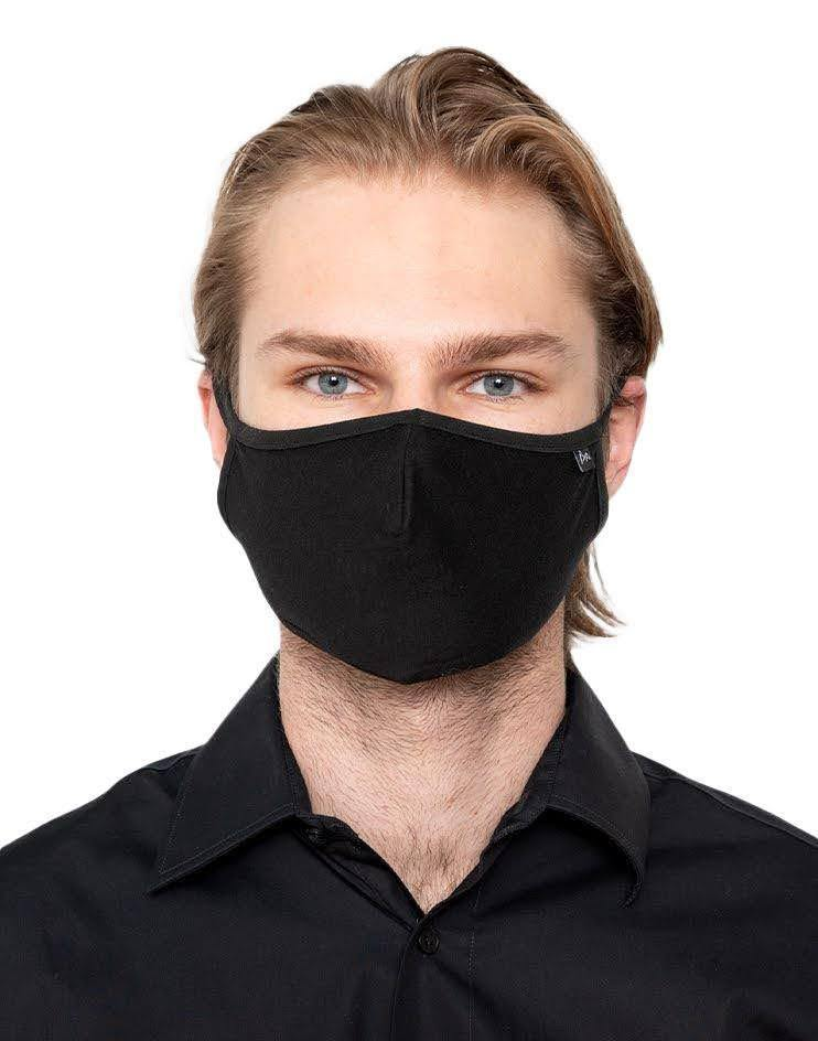 Black Knit Anti-Viral Contour Mask (Pack of 3)