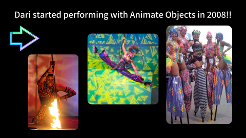 Dari performing with Animate Objects