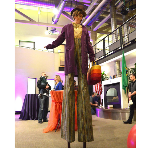 Willy Wonka Stilt Walker Costume