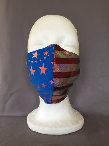 Blue Star Spangled Face Covering