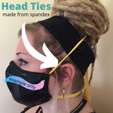 Head ties made from comfortable spandex lycra