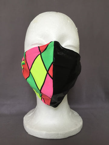 Neon Harlequin Face Covering