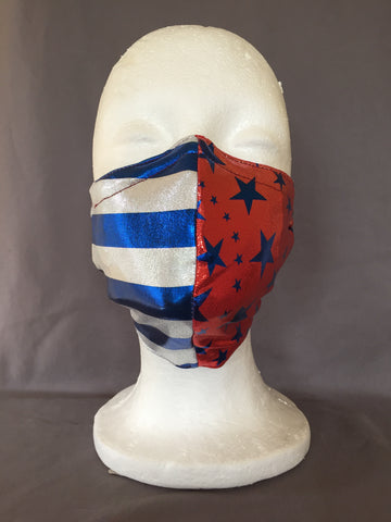 Red Star Spangled Face Covering