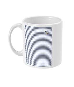 Bee Mug with Blue Stripes from Pixie Girl Boutique