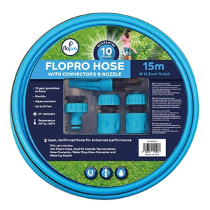 FLOPRO HOSE 15M WITH CONNECTORS (STARTER SET)