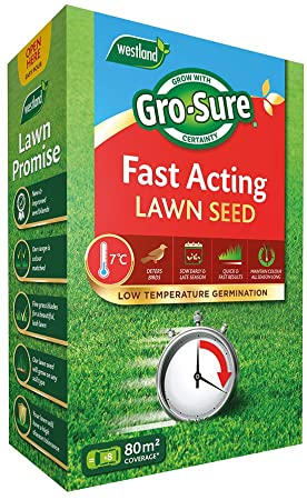 Gro-Sure Fast Acting Lawn Seed 80 m2