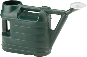 Ward 6.5 Litre Budget Durable Plastic Green Watering Can wt Rose Spray Sprinkler 6.5L