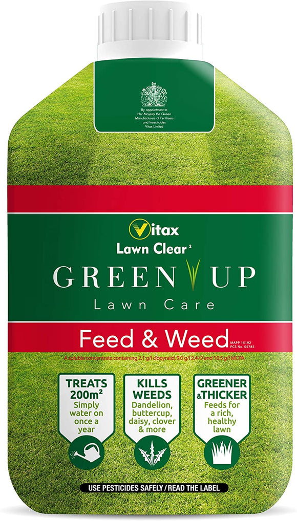 Vitax Green Up Lawn Care Feed & Weed