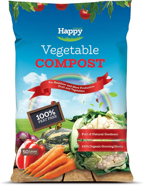 50 L Happy Compost Vegetable Compost 100% peat free