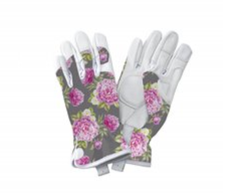 Kent and Stowe Prem Leather Grey Gloves Ladies Small