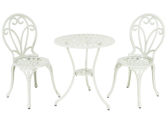 Bobigny Two Seater Cream Bistro Set