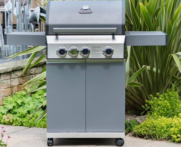 Grill Stream Classic Barbecue 3 Burner Matt Grey