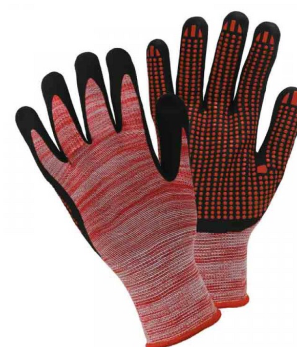Briers Extra Grip Glove Red M