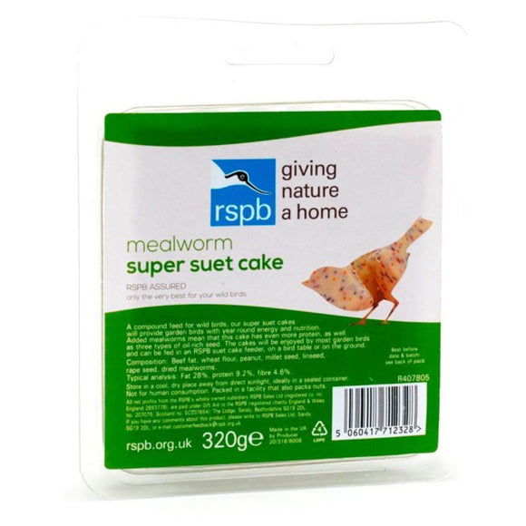RSPB Super suet hanging cakes, mealworm