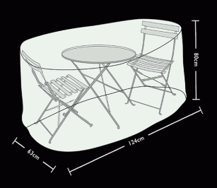 Tom Chambers Large Bistro Set Cover Prestige Grey