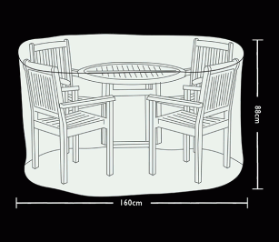 Tom Chambers Circular 4 Seat Patio Set Cover Prestige Grey