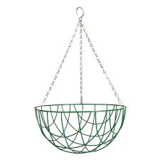Gardman Traditional  Hanging Basket - Green 12""