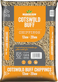 Meadowview Cotswold Buff Chippings 13-20mm Lg