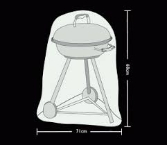 Tom Chambers Large Kettle BBQ Cover Prestige Grey