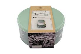 Kent & Stowe Dig For Victory Nest of 3 Storage Tins