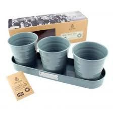 Kent & Stowe Dig For Victory Trio of Herb Pots