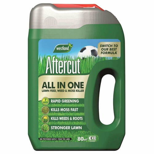 Aftercut All In One Lawn Feed, Weed & Moss Killer Spreader