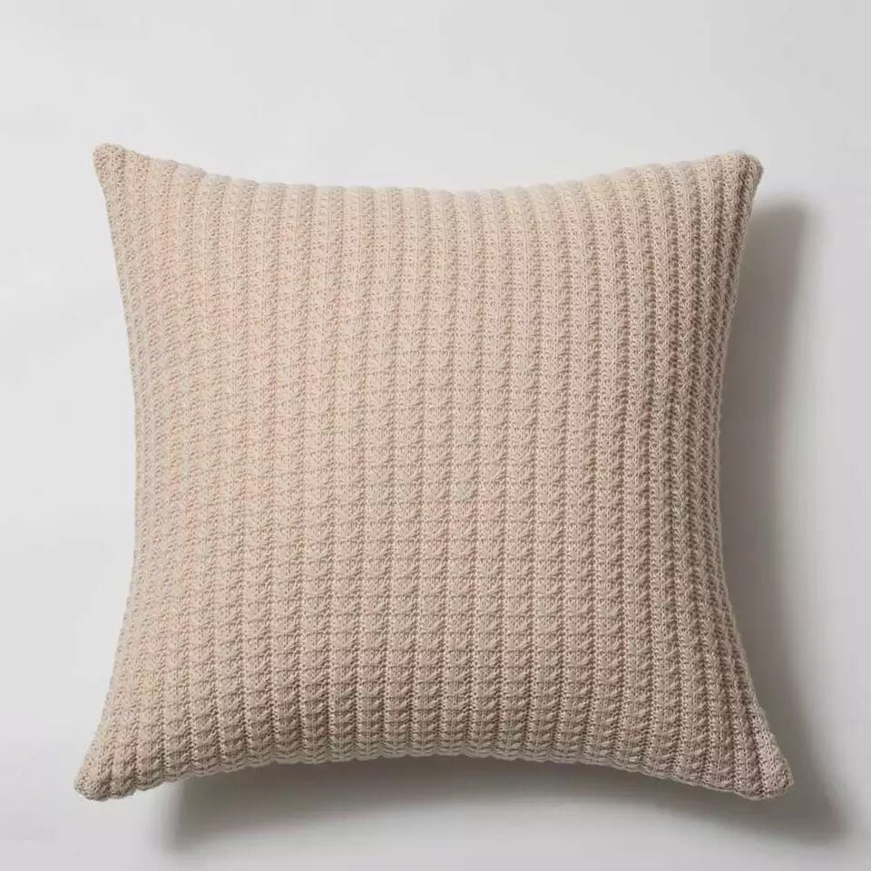 Luxe Earth Knit Cushion - Home