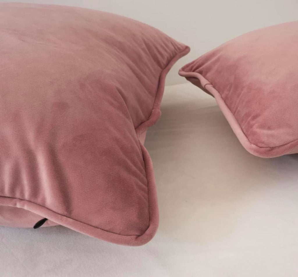 Luxury Bombay Velvet Blush Pink Cushion - Home