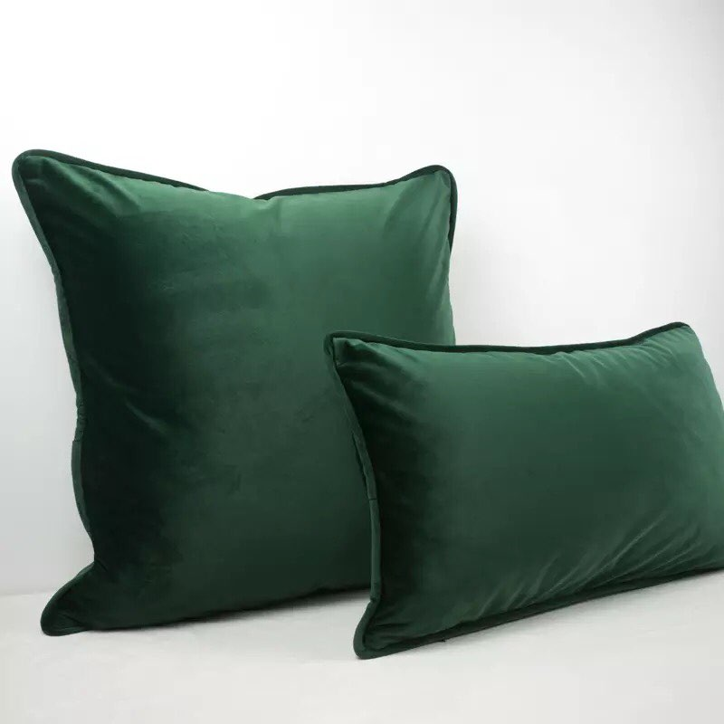 Luxury Bombay Velvet Green Cushion - Home