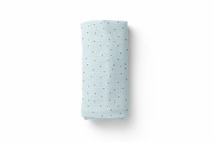 Polka Dot Blue Luxury Baby Swaddle Blanket - For Child
