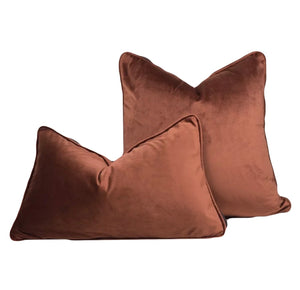 Luxury Velvet Sepia Cushion - Home