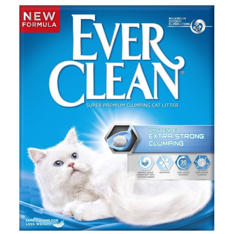 Lettiera per gatti EverClean Extra Strong Unscented 6 LT - Wonderfood Italia srl - Iperverde