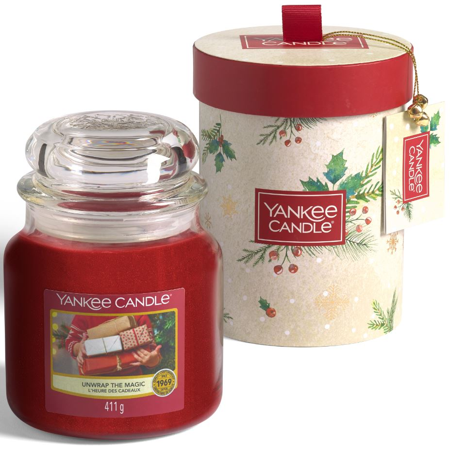 Yankee Candle confezione regalo Natalizia con 1 giara media Unwrap the Magic - Yankee Candle - Iperverde