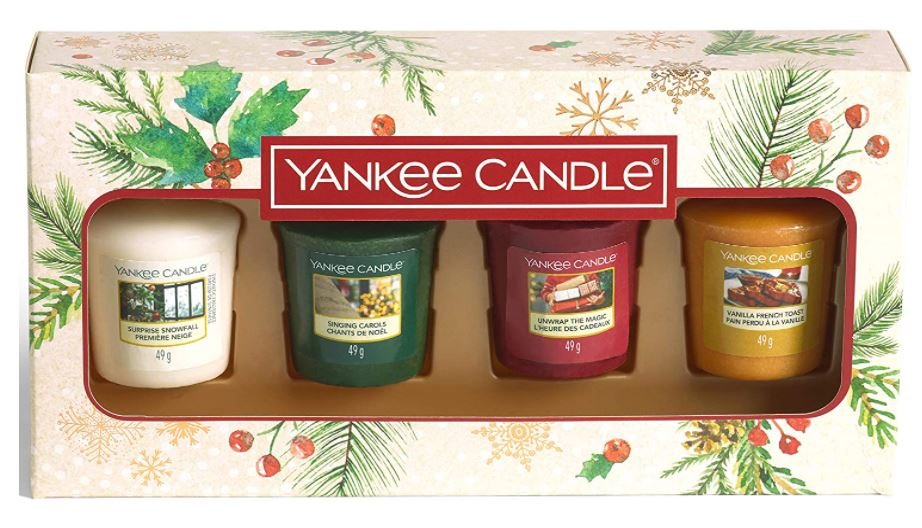 Yankee Candle confezione regalo Natalizia con 4 candele sampler - Yankee Candle - Iperverde